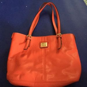Anne Klein Coral Colored Bag in Great Shape!